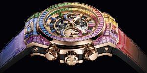 Hublot Big Bang Unico Full Baguette King Gold Rainbow: Chất thơ trên những cỗ máy cơ khí