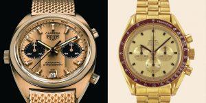 Chọn mua đồng hồ Chronograph: Heuer Carrera Ref 1158 hay Omega Speedmaster Ref BA145.022?