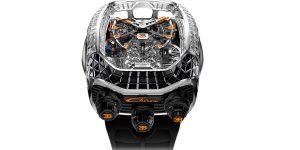 Xuất hiện phiên bản Jacob & Co. Bugatti Chiron Tourbillon mới với bộ vỏ nạm đá quý tinh xảo